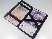 Black Faux Leather Magic Wallet Money Coin Holder Cash Dispenser Taxi Driver