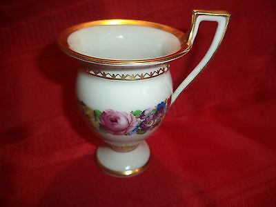 Antique Hand Painted Dresden Beautiful Floral Design Cup Numbered