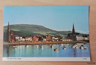 Postcard-The Sea Front Largs-Unused-Scotland-Clyde-Dennis Postcard-L.0149
