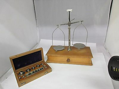 Antique Balance Beam Apothecary Jeweler Scale ~ Fisher Scientific ~ VGC G-542