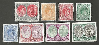 ST KITTS NEVIS KING GEORGE V1 DEFINITIVES 1/2d TO 1/- MOUNTED MINT