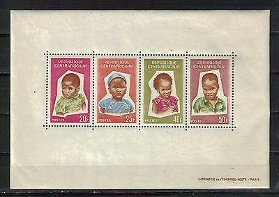 CENTRAL AFRICAN REPUBLIC Scott 38a MNH souvenir sheet children engraved