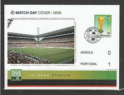 Football 2006 World Cup,Match day cover wth report insert, Angola V Portugal