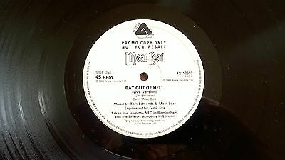 MEAT LOAF  BAT OUT OF HELL near mint 1985 UK promo copy VINYL 12 INCH 45