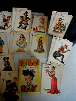 Vintage Whitman OLD MAID CARD GAME Complete No 3009