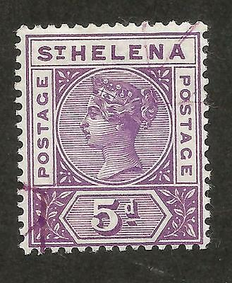 ST HELENA QUEEN VICTORIA No51 5d FINE USED