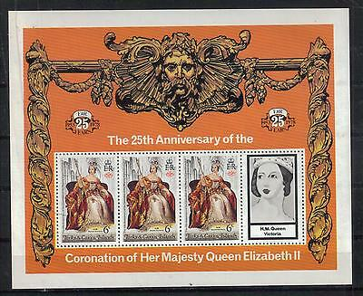 TURKS & CAICOS ISLANDS Scott 342-346 MNH souvenir sheets QEII coronation