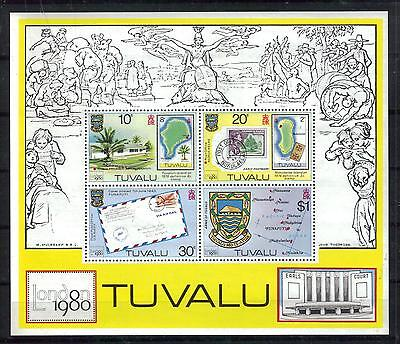 TUVALU Scott 136a MNH souvenir sheet LONDON 1990