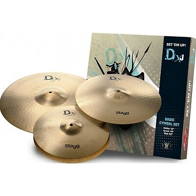Stagg DXJ Starter 3 Piece Cymbal Set