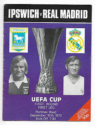 1973/74 UEFA Cup - IPSWICH TOWN v. REAL MADRID