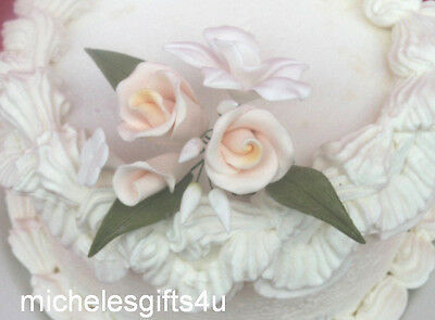 Gum Paste White Orchid Ivory Rose Stephanotis Flower Bouquet