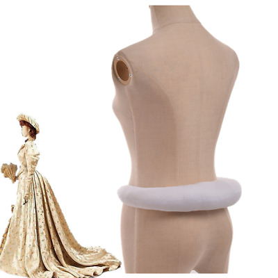 Elizabethan Tudor Medieval Gowns Bum Roll White Cotton fabric Hanover Bustle