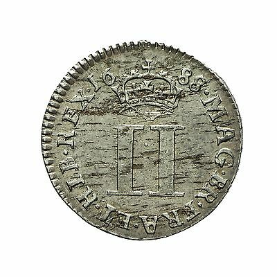 James Ii Silver Maundy Twopence 1688/7