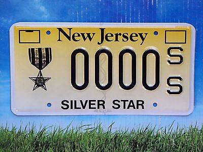 New Jersey Silver Star SS Sample License Plate Mint Combat Medal Rare