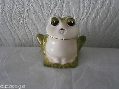 Babbacombe Pottery Frog String & Scissor Holder - Perfect Condition