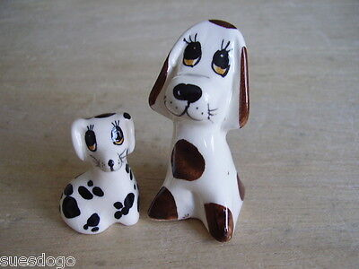 Philip Laureston Pottery Hand Painted Animals - 2 Spotty Dogs - With Makers Mark