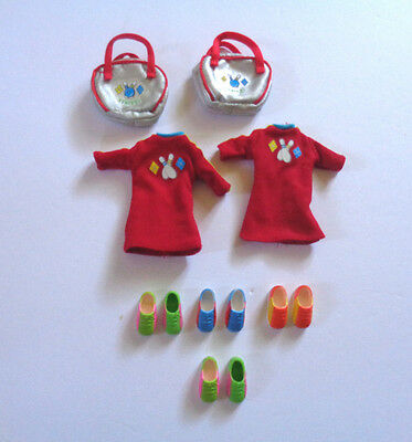 Skipper Stacie Janet Whitney Bowling Shoes Dresses Bags EUC