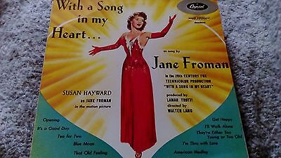 Jane Froman ‎– With A Song In My Heart Vinyl LP Capitol T-309 27/51