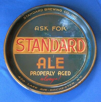 Vintage Standard Ale Brewing Rochester NY Beer serving tray  Very Cool