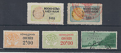 1950's/60's useful lot of Vietnam revenue stamps up to $100