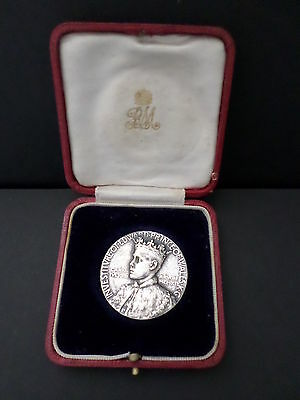 1911 Royal Mint Investiture of Edward Prince of Wales cased medal by W G John