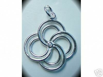 LOOK 1009 Celtic Spiral Silver pendant charm life cycle