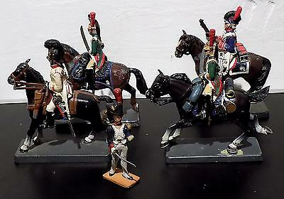 Various Painted Lead Mounted Soldiers x 4, DeA by Cassandra + Another Figure