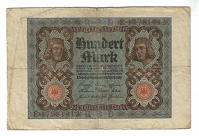 1920 Germany 100 Mark bank note paper money # 69b