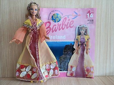Barbie Doll Wearing The Ireland  Discover the World Costume with Booklet