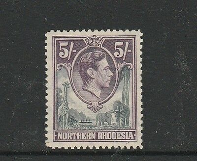 Northern Rhodesia 1938/52 5/- UM/MNH SG 43, see note
