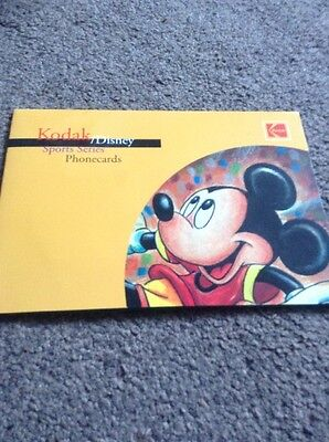 Disney Limited Edition Phonecards In Folder
