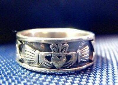 LOOK 2733 Claddagh ring Celtic Infinity knot Sterling Silver