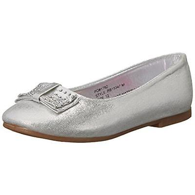 Rugged Bear 0355 Girls Silver Little Kid Ballet Flats Shoes 13 Medium (B,M) BHFO