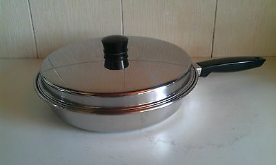 Vintage PRESTIGE 26cm Stainless Steel Frying Pan & Lid