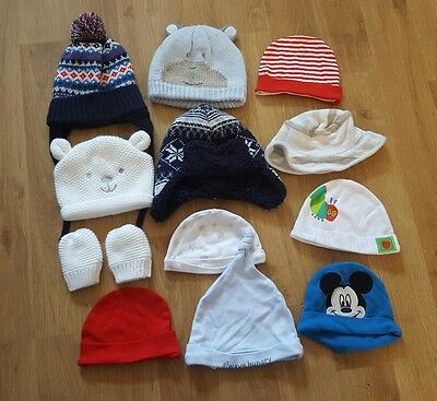 baby boys 3-6-9 months hats various styles good condition