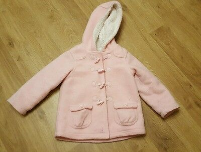 baby girls 18-24 months jacket george pink duffle coat
