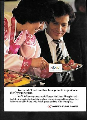 Korean Air Lines 1984 You Need Not Wait 4 Years For Olympics To Fly Kal 747 Ad