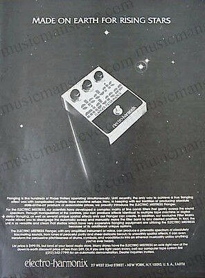"""ELECTRO HARMONIX FLANGER/FILTER MATRIX AD 1977 -""""Made on Earth for Rising Stars"""""""