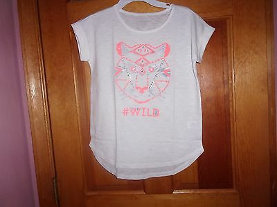 girls NEW graphic tee with tiger's face size 10-12 - cotton
