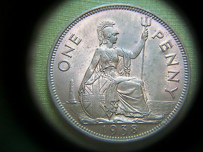 1938, George Vi Penny.  (Very Nice Grade With Some Lustre)