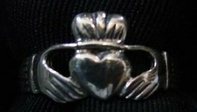 LOOK Buffy The Vampire Slayer Sterling Silver Celtic CLADDAGH RING Jewelry frien