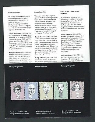 Norway 2002 UMM Thespians (3rd Series) Presentation Pack (sg 1450/4)