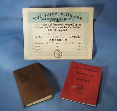 Boys Brigade  1953 Handbook  / Hymnal / Officer's Appointment  Card 1956