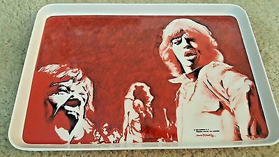 """ROLLING STONES  -1983  METAL TRAY 13 1/2 """" x 9"""" - NEW"""