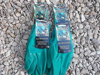 Briers Ladies All Rounder Thorn Resistant Gloves, Medium x 4 green