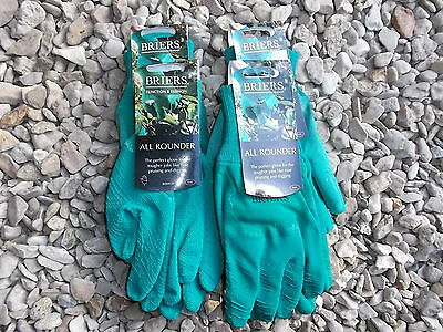 Briers Ladies All Rounder Thorn Resistant Gloves, Small x 4 green