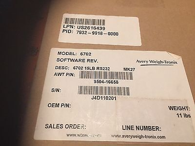 3 new Avery Berkel Model 6702 Point of Sale Retail Scale 15 lb. cap. RS232