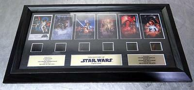 The History of Star Wars Original Filmcell Mounted Framed Black Very Collectable