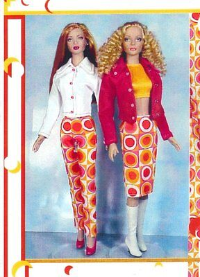 """sew Pattern fits 15.5 and 16"""" fashion dolls skirt top jacket pants Tonner Tyler"""