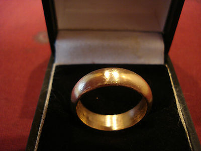 Medieval Bronze Wedding Band / Ring--Detector Find